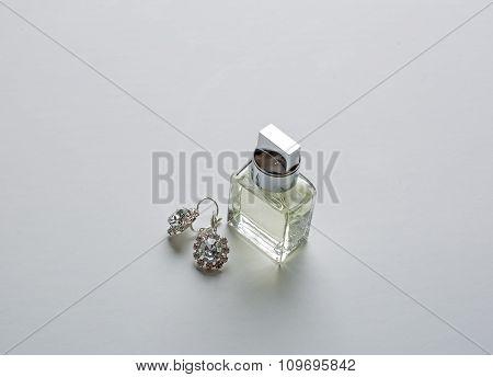 Women's Perfume And Earrings