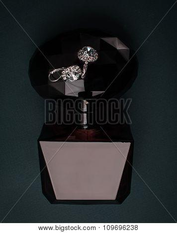 Perfume And Diamond Earrings