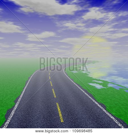 Asphalt road texture,yellow and white line on road.