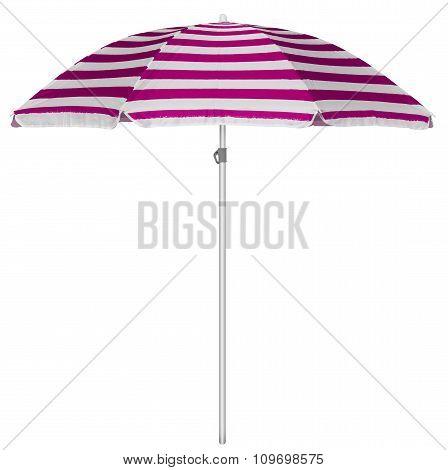 Beach Striped Umbrella - Pink