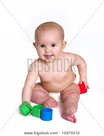 Happy Baby Spiel mit Blöcke