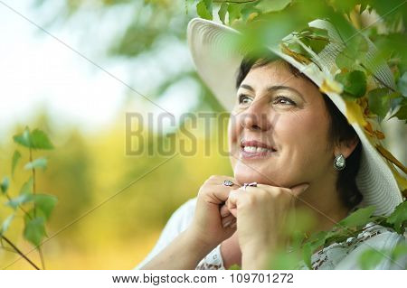 Lady enjoying summer outdoors