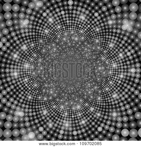 background consisting of gray circles