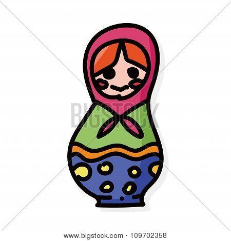 Matryoshka Doll Color Doodle