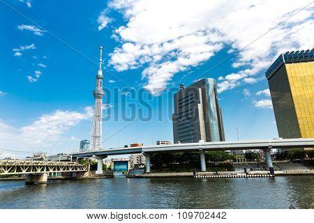 TOKYO, JAPAN - CIRCA MAY 2014: Skytree tower in Tokyo, Japan