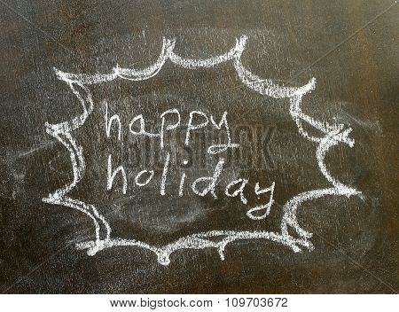 The Word Happy Holiday In Bubble Sign