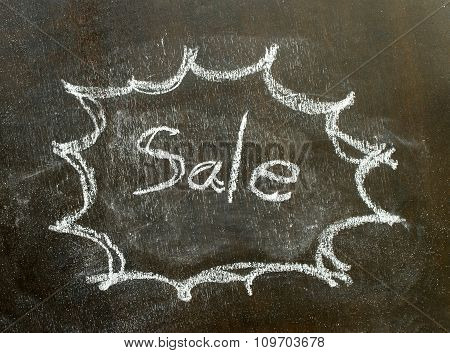 The Word Sale In Bubble Sign