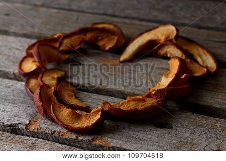 Heart From Dried Apple Pieces
