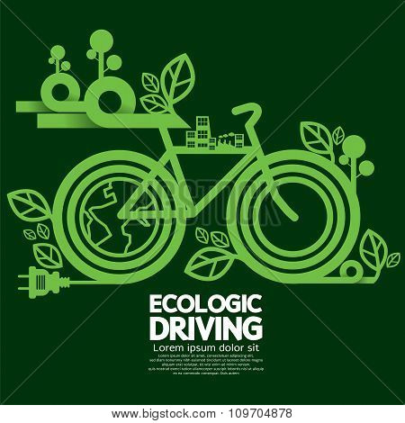 Ecologic Driving Green Concept.