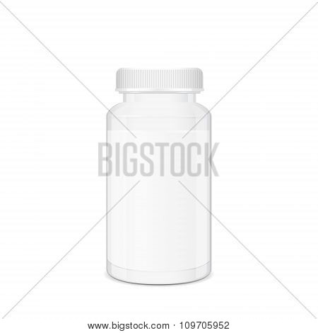 Cylindrical Box For Medical Pills And Tablets
