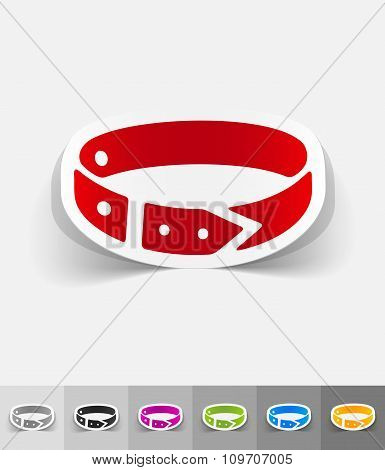 realistic design element. dog-collar