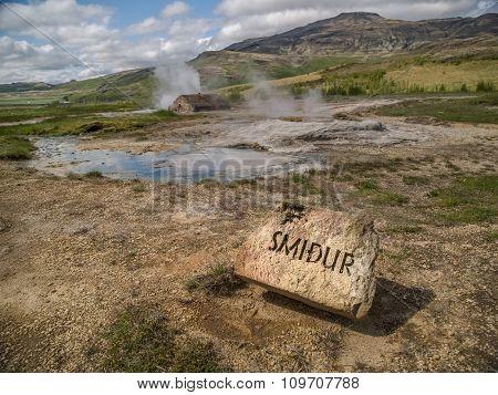Smidur Geyser Iceland