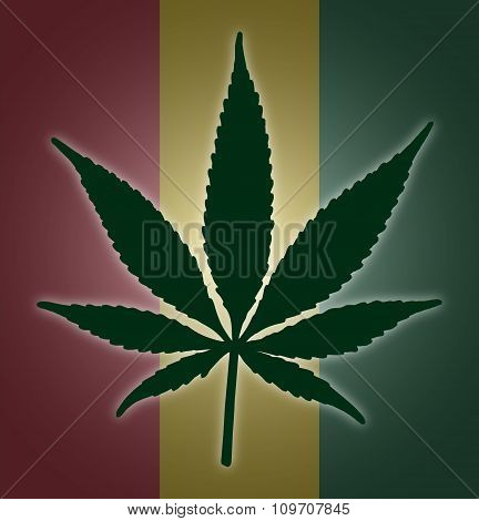 Cannabis Leaf Flag