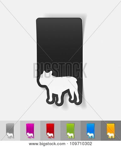 realistic design element. french bulldog