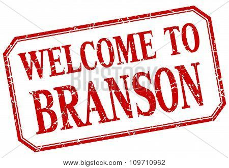 Branson - Welcome Red Vintage Isolated Label