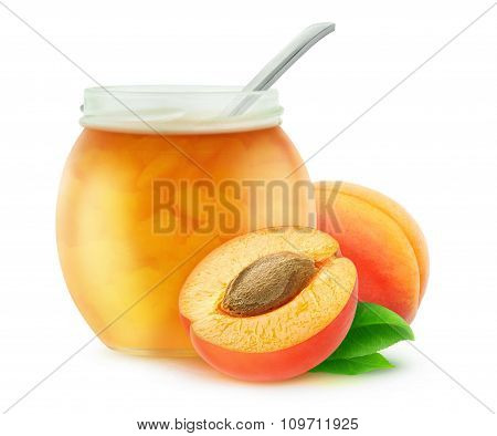 Apricot Jam In A Jar