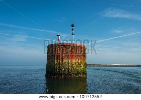 Beautiful Old Rusty Dock At Helgoland Island In North Sea, Germany, Summer Time