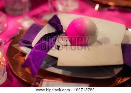 Table Set For Christmas Celebration