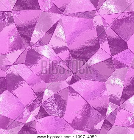 Decorative stones of different shapes - pink pattern