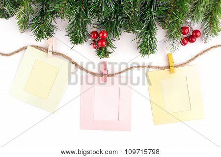 Christmas Card, Blackboard, Photo Frame