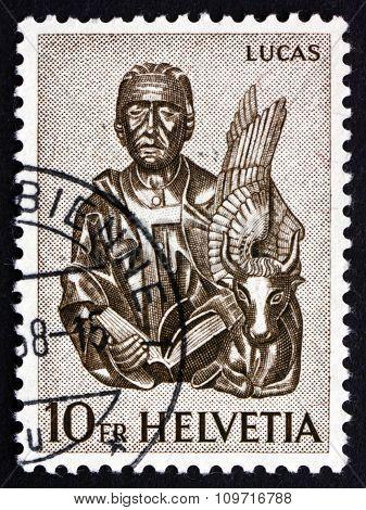 Postage Stamp Switzerland 1961 St. Luke And Winged Ox, Zug