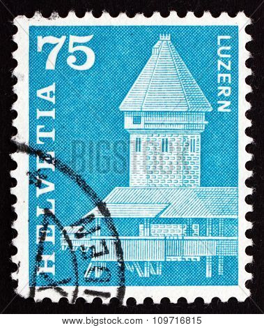 Postage Stamp Switzerland 1993 Bridge And Water Tower, Lucerne