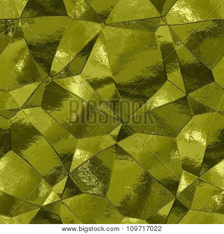 Decorative stones of different shapes - gold pattern