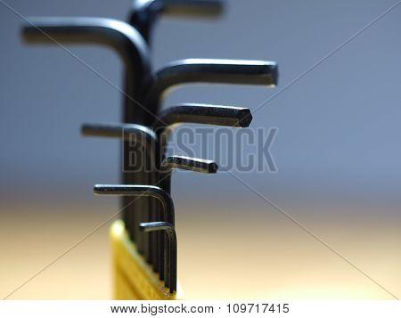 Allen Keys Closeup macro