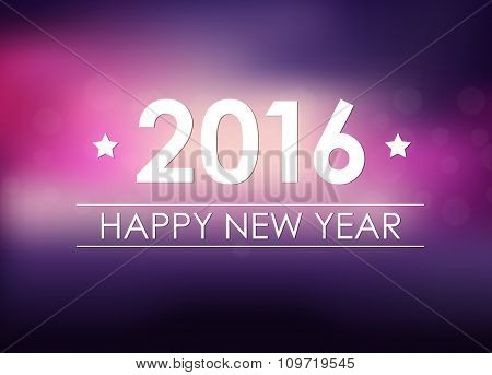 Design New Year Banner On A Blurred Background