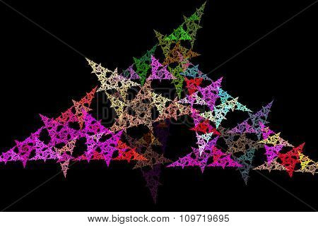 Fractal Image: Geometric Pattern With Triangles.