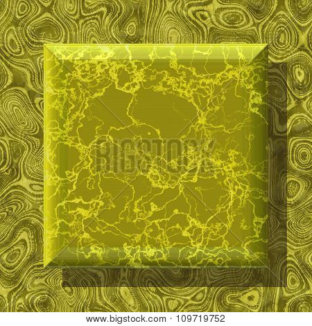 Abstract decorative symbol, gold square - practical shape