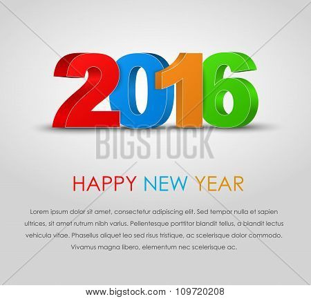 Poster Happy New Year 2016