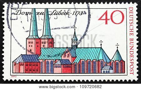 Postage Stamp Germany 1973 Lubeck Cathedral