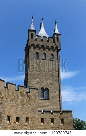 Castle Tower In Hohenzollern Castle, Germany.