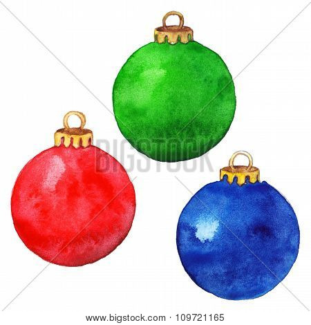 Christmas balls isolated set