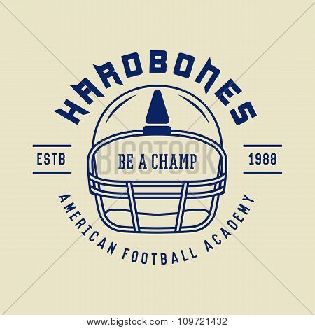 Vintage Rugby And American Football Labels, Emblems And Logo. Vector Illustration