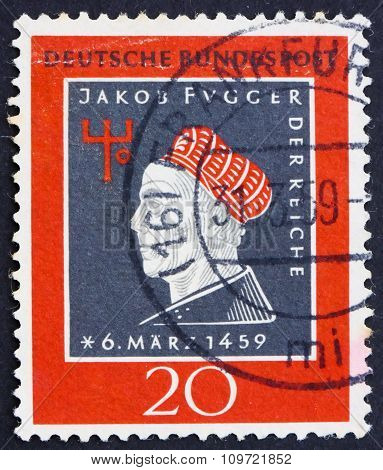 Postage Stamp Germany 1959 Jakob Fugger The Rich