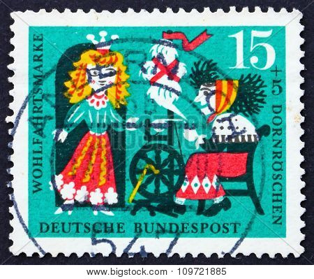 Postage Stamp Germany 1964 Princess And Wicked Fairy, Scene From