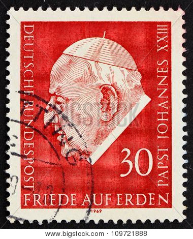 Postage Stamp Germany 1969 Pope John Xxiii
