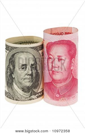 China Business yuan en de dollar