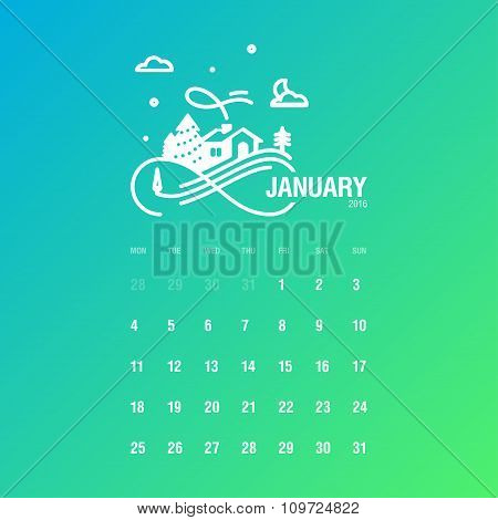 Calendar 2016, January