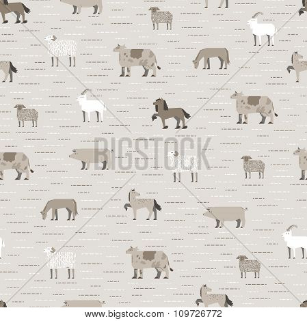 livestock pattern coffee color