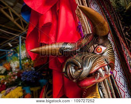 Wooden Boar Mask