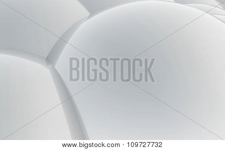 3D White Abstract Spheres Background