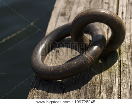 Metal Rings On Dock