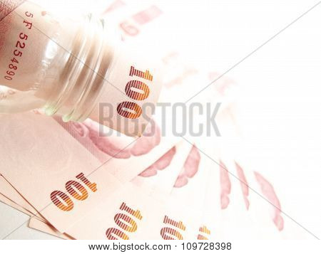 Twisted Banknotes, Money In Glass