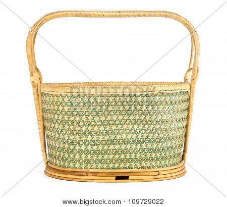 Vintage Weave Wicker Basket