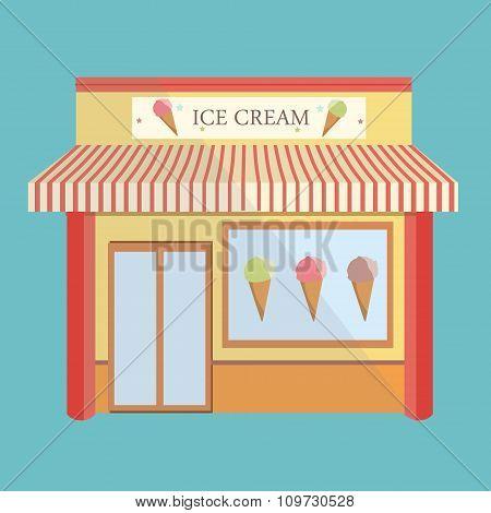 Ice Cream Store Facade