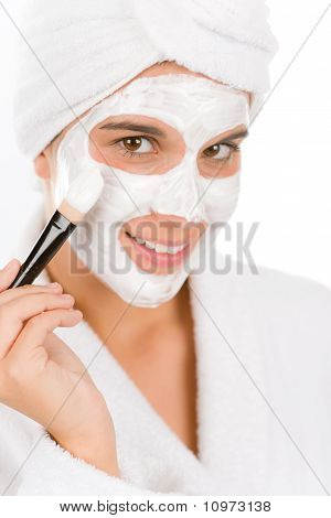 Teenager Problem Skin Care - Woman Facial Mask