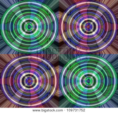 Colorful circles with Yarn